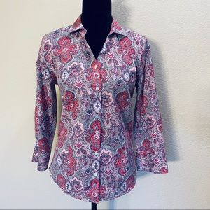 Talbots 10 wrinkle resistant button down shirt   C